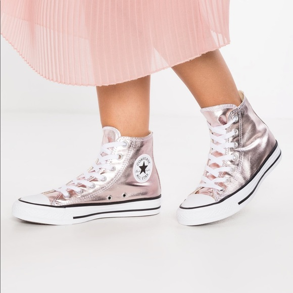 bd1fb7c0d5a4 Converse Other - CONVERSE Pink Metallic High Tops